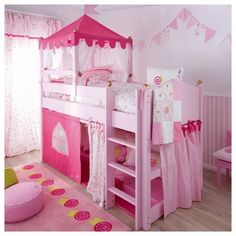 22 decorate your bedroom mirror with faux flowers 00111 Bed For Girls Room, Cool Kids Bedrooms, Kids Bedroom Designs, Little Girl Rooms, Bunk Bed Designs, Baby Bedroom, Girls Bedroom, Bedroom Decor, Baby Girl Bedding