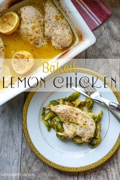 Baked Lemon Chicken Recipe is an easy delicious quick healthy dinner for family and friends. Grab the simple recipe off of the blog ahealthylifeforme