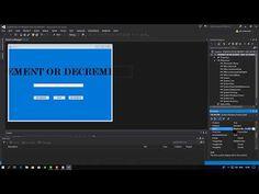 IT-TUTORIAL VISUAL STUDIO # 0 INCREMENT AND DECREMENT WITH PROGRESSBAR C# - YouTube Desktop Screenshot, Science, Studio, Youtube, Studios, Youtubers, Youtube Movies