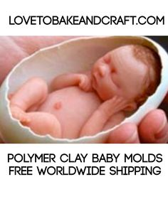 Baby inside an egg, baby MOLD, baby mould, polymer baby, polymer baby inside an egg, lovetobakeandcraft.com