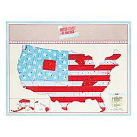 I LOVE this scratch-off map! Perfect for anyone, but I really love this for a child's room!! Keep track of travels, learning state names/capitals, etc...