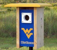 West Virginia NCAA Bluebird/Songbird House