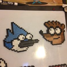 Rigby and Mordecai - Regular Show perler beads by perlerplayland