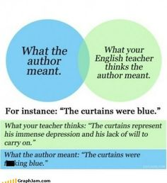 Sometimes, the curtains are just fucking blue, but we English majors like to make shit up about curtains and other inane objects in books to take up space in papers.