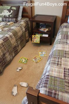 Teach little ones what clean looks like with a simple game - this is actually a good idea. I need to do this with mine!