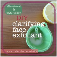DIY all-natural clarifying exfoliant. Helps brighten and even skin tone. One of my favorites!