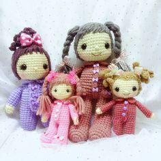 Crochet dolls cute