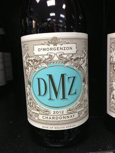 DMZ Chardonnay.  South Africa Chardonnay Wine, White Wines, Dry White Wine, Grapefruit, Beer Bottle, Earthy, South Africa, Beer Bottles