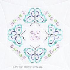 Butterfly Quilt blocks | jack Dempsey needle Art #embroidery #handembroidery #JDNA #butterflies #quiltblocks