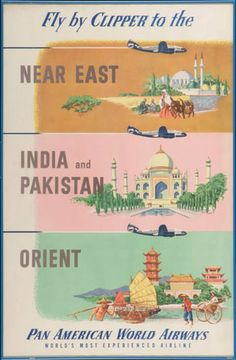 Pan Am: Fly by a clipper to Pakistan & India (1951)    - Would be the last one for a while