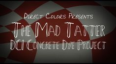 Issac Bruno, local artist and business owner, has created the most spectacularly creative flooring project using our DCI Concrete Dye and Sealer products that we've ever seen. See just what can be done with Concrete Dye in this Alice in Wonderland-themed project! More on the product at http://www.directcolors.com/product/concrete-dye/