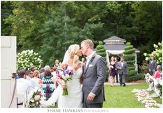 "Adorable Kiss after the ""I Do's"" at Dara's Garden! Photo by Shane Hawkins Photography from Knoxville, TN. Kiss, Dara's Garden, wedding, lovely, ceremony, exit, Knoxville, TN."