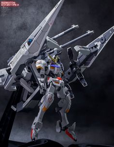 Gundam Barbatos And Long Distance Transport Booster Kutan Type-III By Identity | Gundam Century