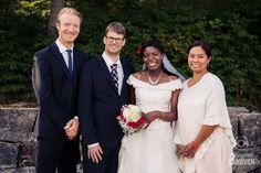 Brudepar og forlovere