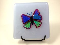 Fused Dichroic Glass Butterfly Art Panel for by Mtbaldyglassworks, $39.00