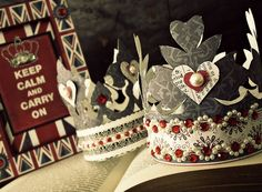 English Tea Party- this would be a great Valentine Party for a group of little girls! Queen of hearts from Alice in Wonderland comes to mind. Fabric Crown, Crown Party, Birthday Party Themes, Birthday Crowns, Elmo Party, Elmo Birthday, Mickey Party, Dinosaur Party, Dinosaur Birthday