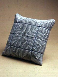 Large Pastel Squares Pillow | Yarn | Free Knitting Patterns | Crochet Patterns | Yarnspirations