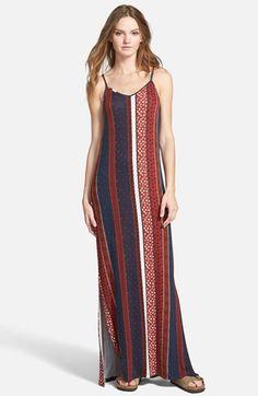 Stem Print V-Neck Maxi Dress available at #Nordstrom
