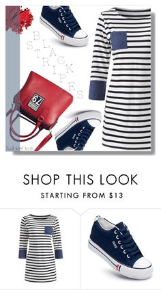 """""""Blue, red, white & black"""" by fashion-pol ❤ liked on Polyvore featuring Inglot"""