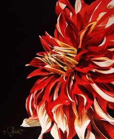 watercolor paintings of dahlias | More by Jacqueline Gnott | More Floral Paintings For Sale