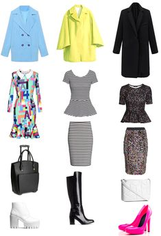 Color analysis CLEAR COOL true BEST LOOKS. Outfits, clothing, fashion, trend. http://www.idealiststyle.com/blog/best-clear-cool-bright-looks