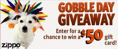 Enter to win a $50 Zippo gift card.   ~5 winners ~  Good luck!