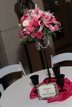 Stargazer Lily and Rose Centerpiece!!