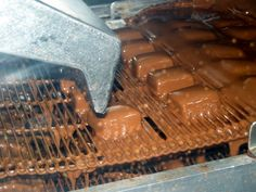 Chocolate covering.