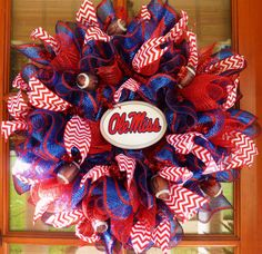 Ole Miss Deco Mesh Wreath University of by MemphisMomWreaths