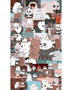 Wallpaper Funniest: We Bare Bears Fan Art Cute Panda Wallpaper, Cartoon Wallpaper Iphone, Iphone Wallpaper Tumblr Aesthetic, Bear Wallpaper, Cute Disney Wallpaper, Kawaii Wallpaper, Cute Wallpaper Backgrounds, Galaxy Wallpaper, Aesthetic Wallpapers