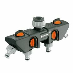 Gardena 8194 Four Channel Water Distributor Garden Hose Valve by Gardena. $47.10. Garden quick connect fittings. Convertible to Profi Maxi-Flow System with Profi-System Tap Connector. 4 fully adjustable outlets.. For operating several watering accessories at the same time.. Suitable for 2 Water Computers or Water Timers.. From the Manufacturer                Gardena's aim is to provide a simple and convenient solution to all of your watering, soil and lawn care probl...