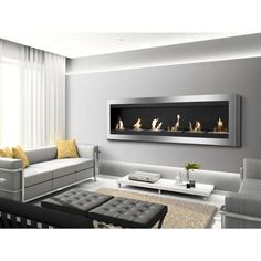 Free Shipping and No Sales Tax on the Ignis Maximum Wall Mount Bio Ethanol Fireplace on Ethanol Fireplace Pros.
