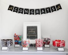 Graduation Party Candy Buffet | A sweet idea for your ...
