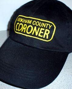 Arkham Bazaar - Arkham County Coroner (HAT), $20.00 (http://arkhambazaar.com/t-shirts-apparel/arkham-county-coroner-hat/)