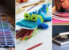 Free Mister Snaps crochet pencil case pattern - SO CUTE! Crochet Gifts, Cute Crochet, Crochet For Kids, Crochet Dolls, Easy Crochet, Crochet Flower, Knit Crochet, Amigurumi Patterns, Knitting Patterns Free