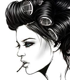 Illustration by Pat Chiang #fashion #illustration
