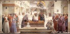 Ghirlandaio · Miracolo del fanciullo resuscitato · 1479-85 · Cappella Sassetti · Basilica di Santa Trinita · Firenze
