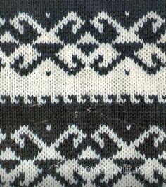 Вязание спицами узор жаккардовый №1763 схема