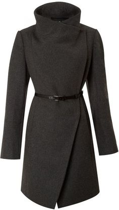 Only 243 dollars, how am I supposed to say no now??? Kenneth Cole Twill Belted Wool Coat