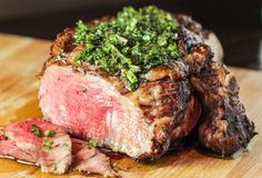 Steak with Herb Sauce