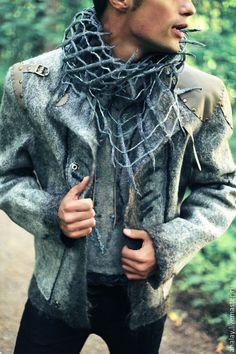 """Купить Куртка мужская серая из войлока ручной работы """"Викинг"""" - серый, викинги, викинг, реконструкция"""