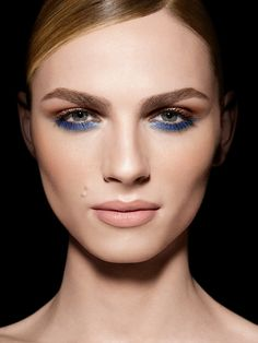 Andreja Pejic for Make Up For Ever photographed by Philippe Salomon
