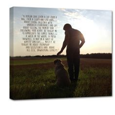 Gift For Dad! mans best friend with quote for wall family photos with words on canvas
