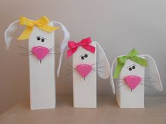 Easter Set of 3 Bunnies Spring Bunny Wood crafts  Holiday decor  Wood Easter Decor Easter gifts eggs crafts Easter craft on Etsy, $32.00