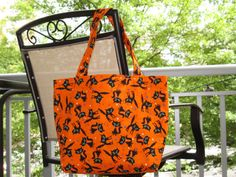 Halloween Trick or Treat Bag by TheEnchantedFaerie on Etsy