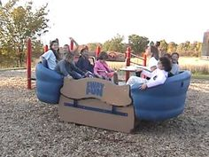 Sway Fun Glider - Large Glider with Benches & Wheelchair Access for Kids 2-12 - Landscape Structures