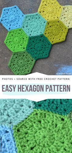 Easy Hexagon Pattern Free Crochet Pattern    #crochethexagon