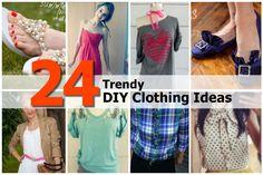 24 Trendy DIY Clothing Ideas - http://www.diyprojectsworld.com/24-trendy-diy-clothing-ideas.html