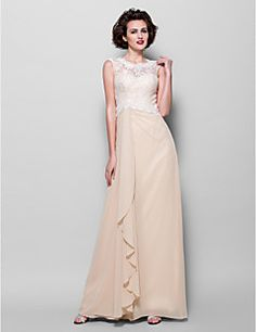 Sheath/Column Jewel Floor-length Chiffon And Lace Mother of the Bride Dress (1798954). Get unbeatable discounts up to 70% Off at Light in the box using Mother's Day Promo Codes.