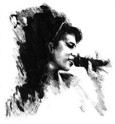 nanquim+Amy+Winehouse.jpg (872×945)